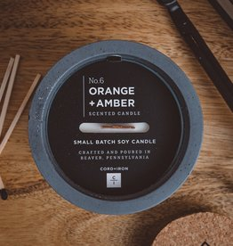 CORD +IRON ORANGE+AMBER Scented Candle - Charcoal