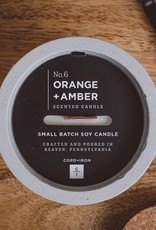 CORD +IRON ORANGE+AMBER Scented Candle - Natural