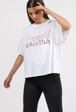 """BRUNETTE  the label The """"WELCOME TO THE BABES CLUB"""" Boxy Crew Neck Tee"""