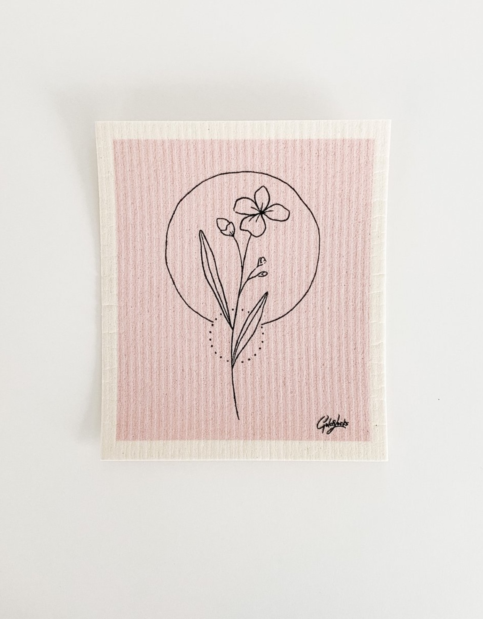 GOLDILOCKS wraps Swedish Dishcloth: Wildflower