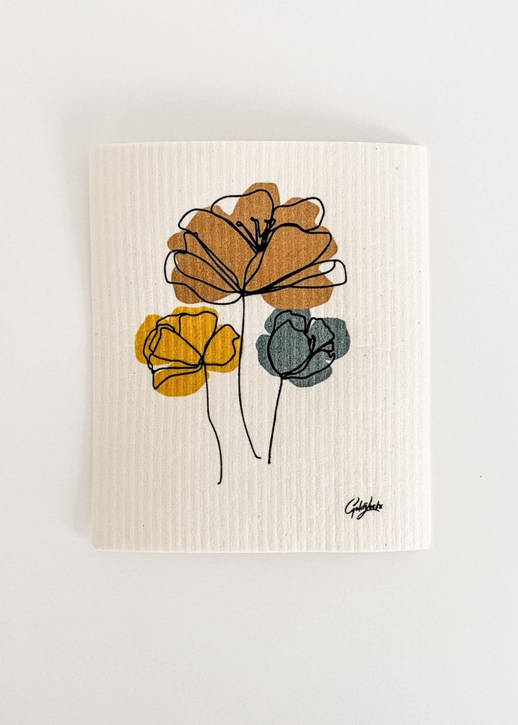 GOLDILOCKS wraps Swedish Dishcloth: Harvest Bouquet