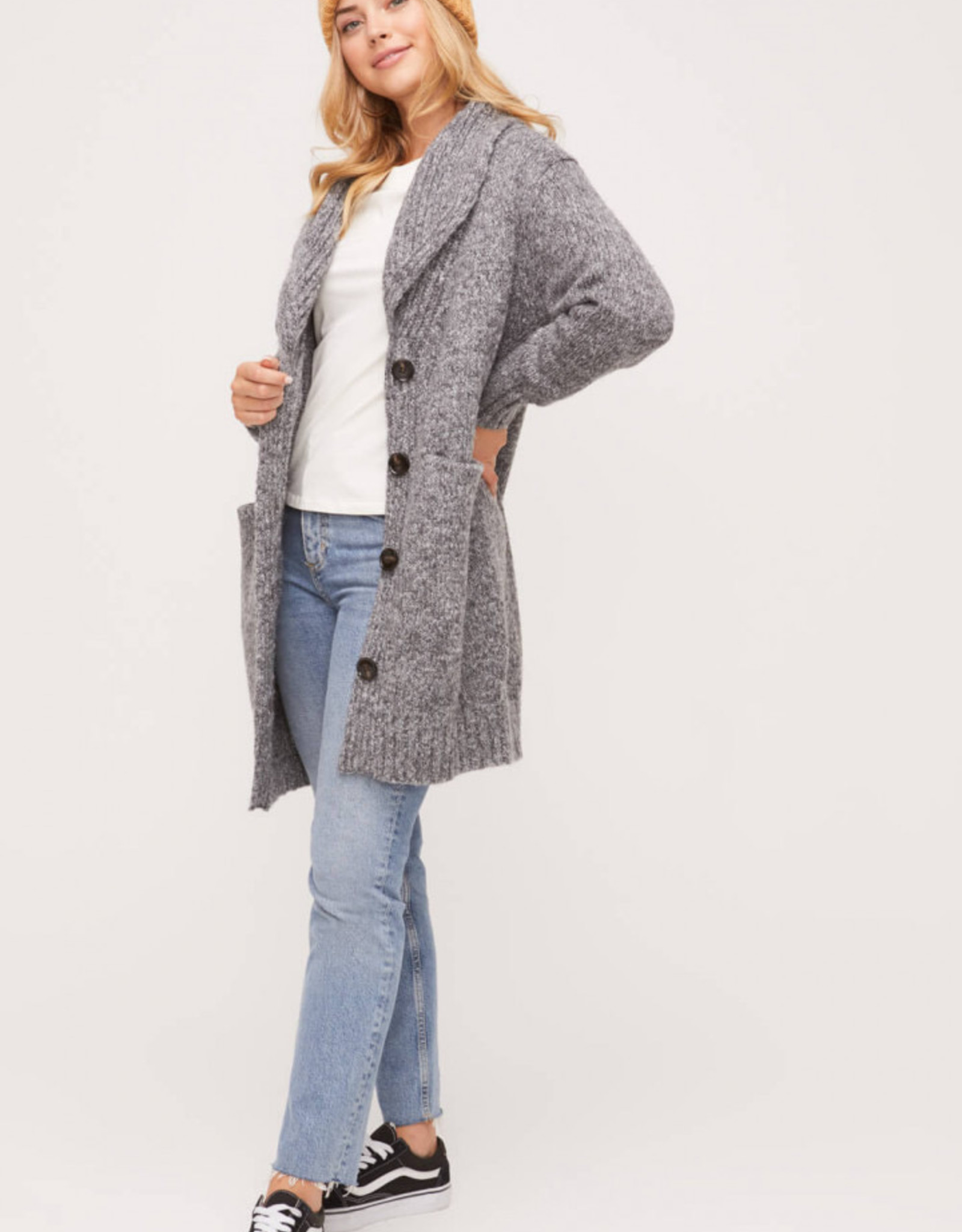 LUSH Oversize Coat With Front Pockets