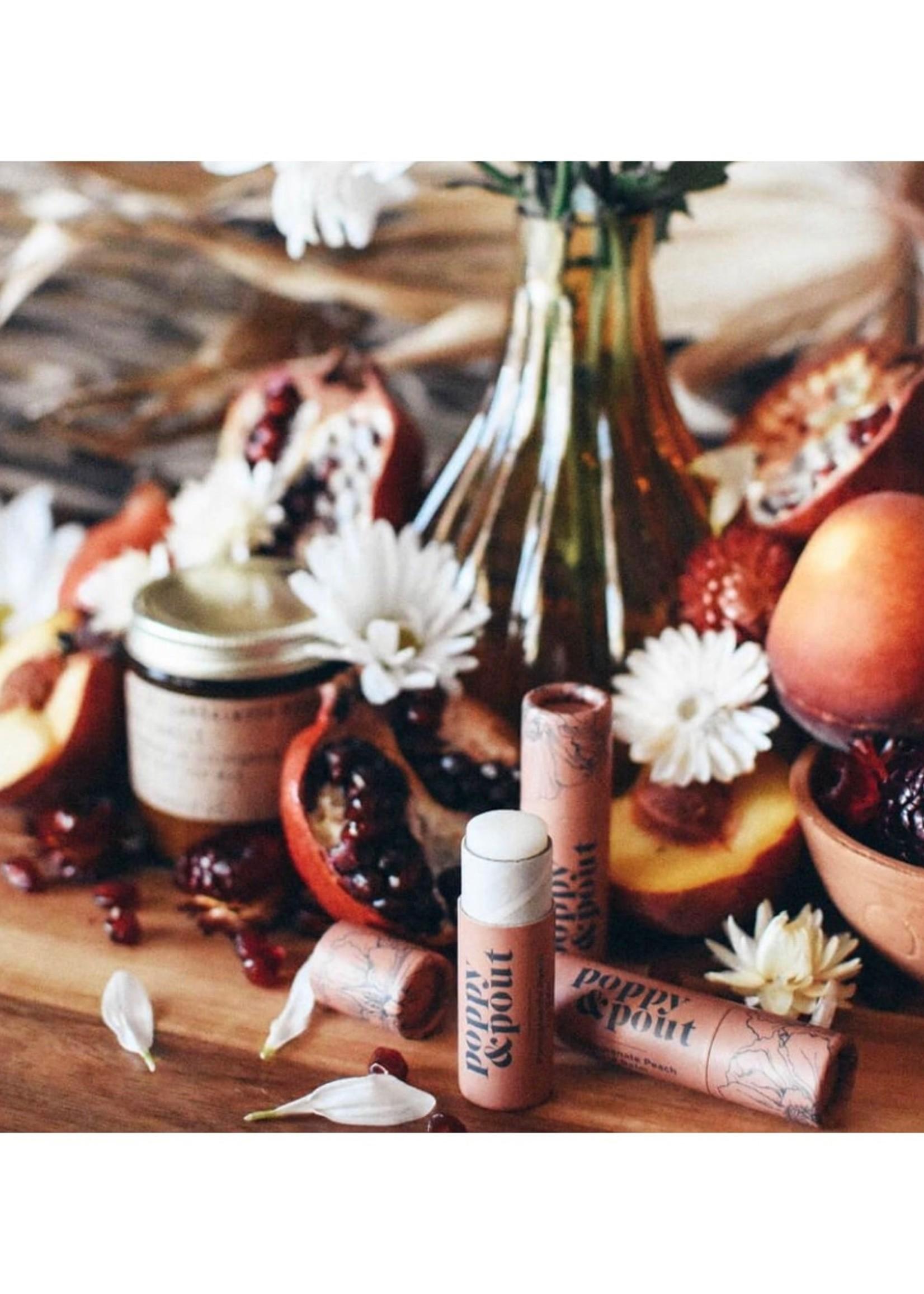 POPPY & POUT Pomegranate Peach Lip Balm