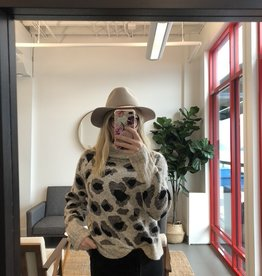 RD STYLE The Carol Leopard Knit Sweater