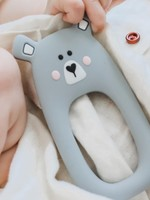 LITTLE CHEEKS Grey Bear SILICONE TEETHER