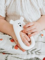LITTLE CHEEKS White Bear SILICONE TEETHER