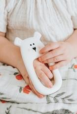 LITTLE CHEEKS White Bear TEETHER