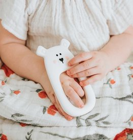 LITTLE CHEEKS White Bear TEETHER