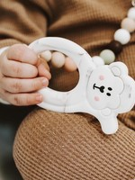 LITTLE CHEEKS Warm Marble Monkey TEETHER