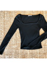 LeBLANC finds Square Neck Ribbed L/S
