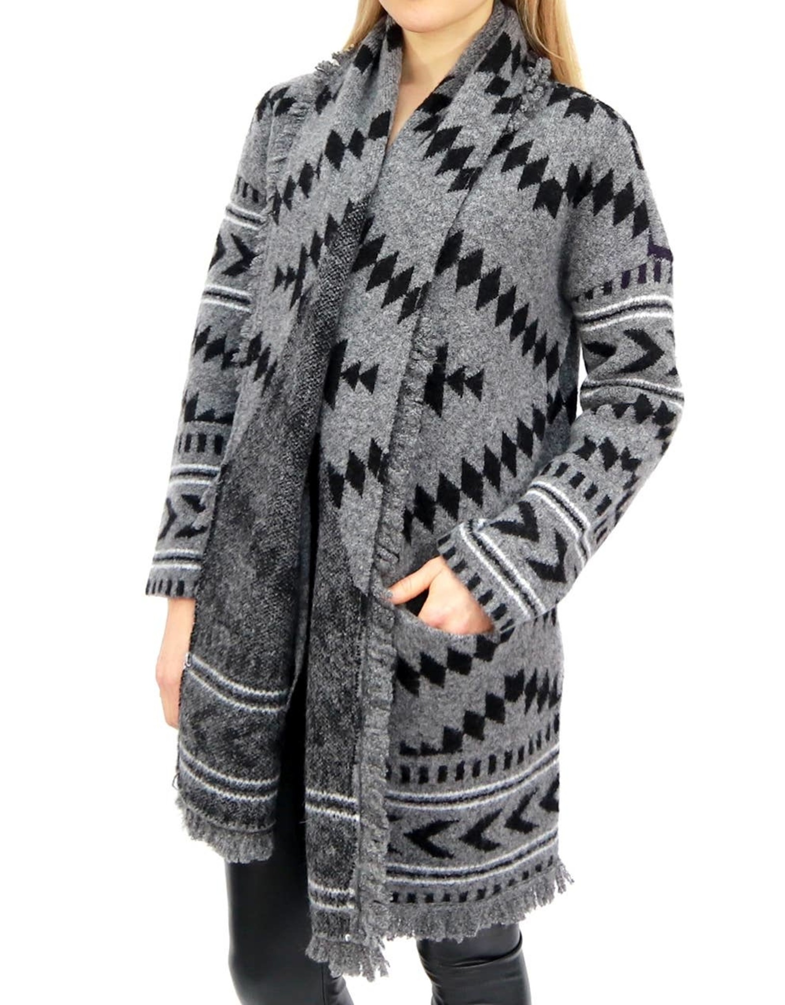 RD STYLE Aztec Knit Sweater