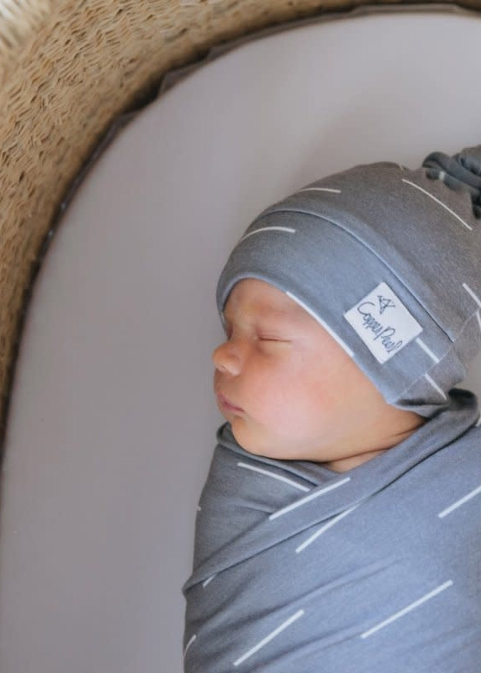 COPPER PEARL Baby Top Knot Hat