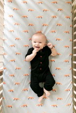 COPPER PEARL Knit Fitted Crib Sheet SWIFT