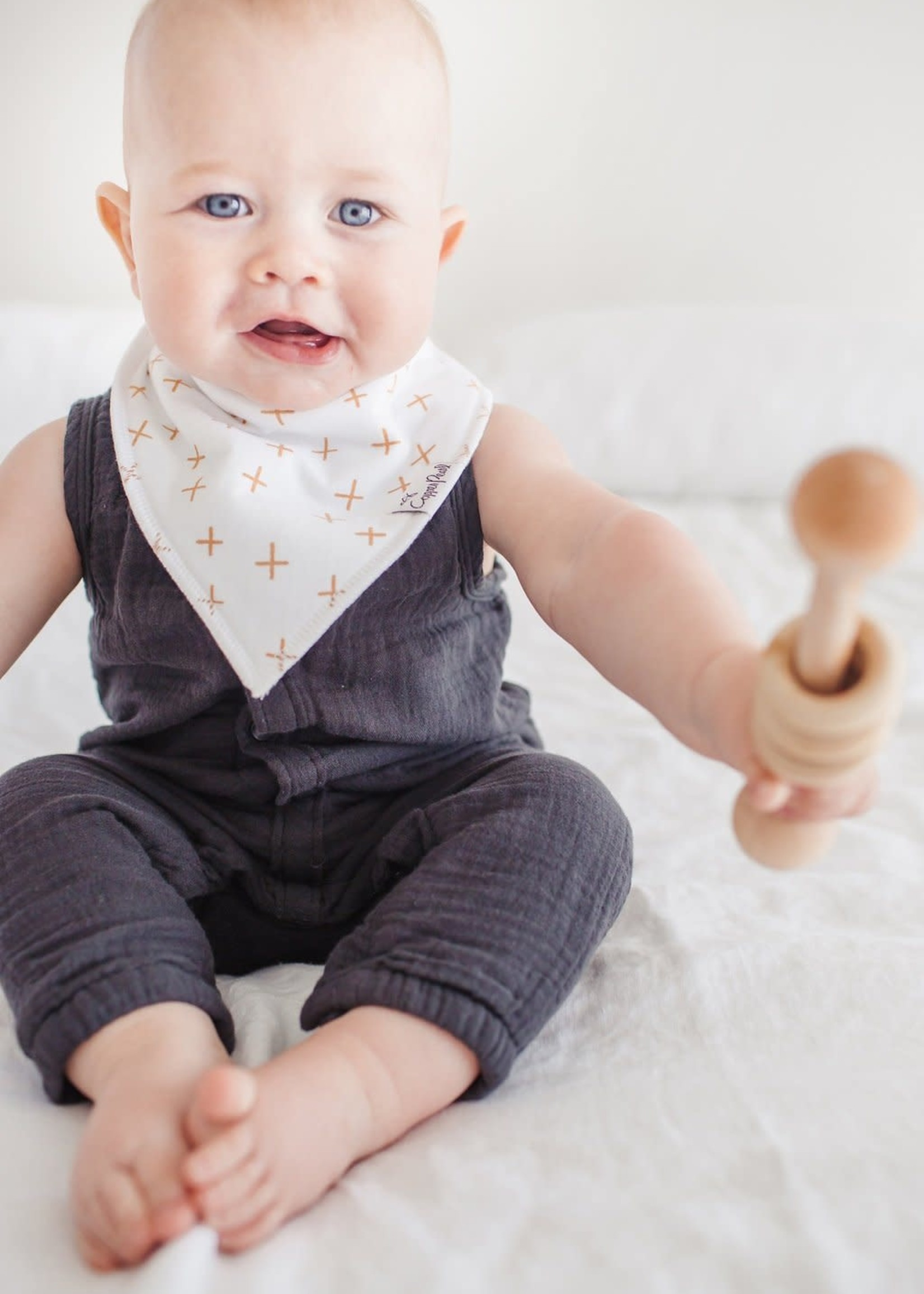 COPPER PEARL 4-pack Baby Bandana Bibs CHIP