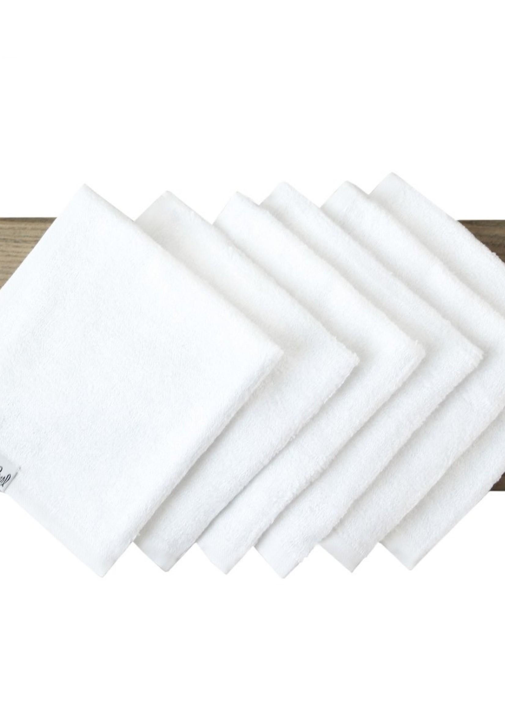 COPPER PEARL 6 Ultra Soft Washcloth Set WHITE