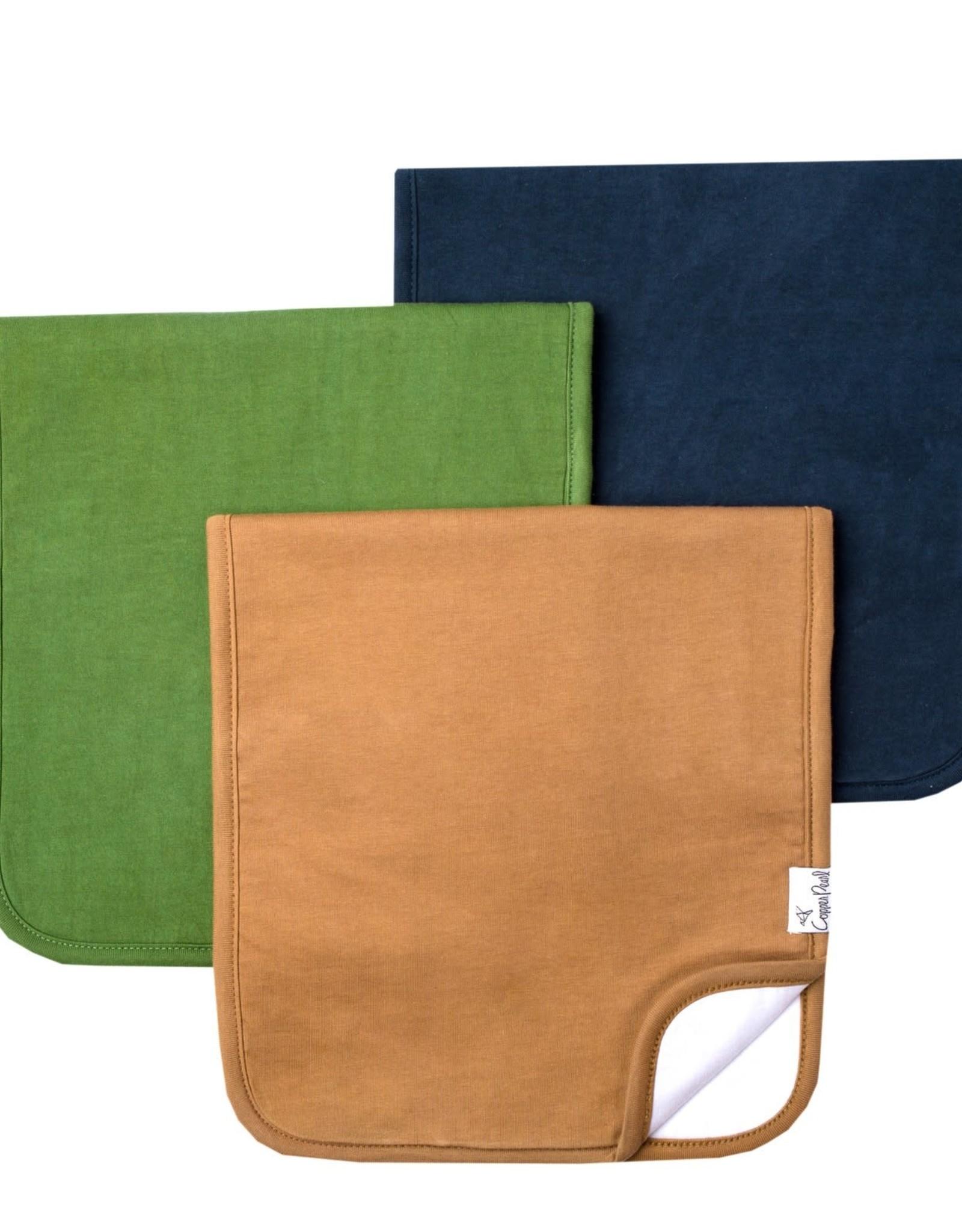 COPPER PEARL 3-Pack Premium Burp Cloths RIDGE
