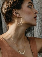 AMANO studio Cresent Moon Hammered Hoops 14k gold over brass