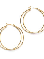 AMANO studio Eclipse Double Hoop Earrings 14k gold over brass