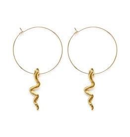 "AMANO studio Serpent Hoops 1"" 20k gold filled hoops"