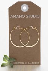 """AMANO studio Sterling Silver 1.5"""" Hoop Earings"""