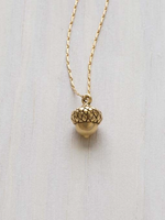 "AMANO studio Tiny Acorn Necklace 18"" chain 14k gold"