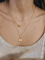 AMANO studio Padlock Necklace 14k gold over brass