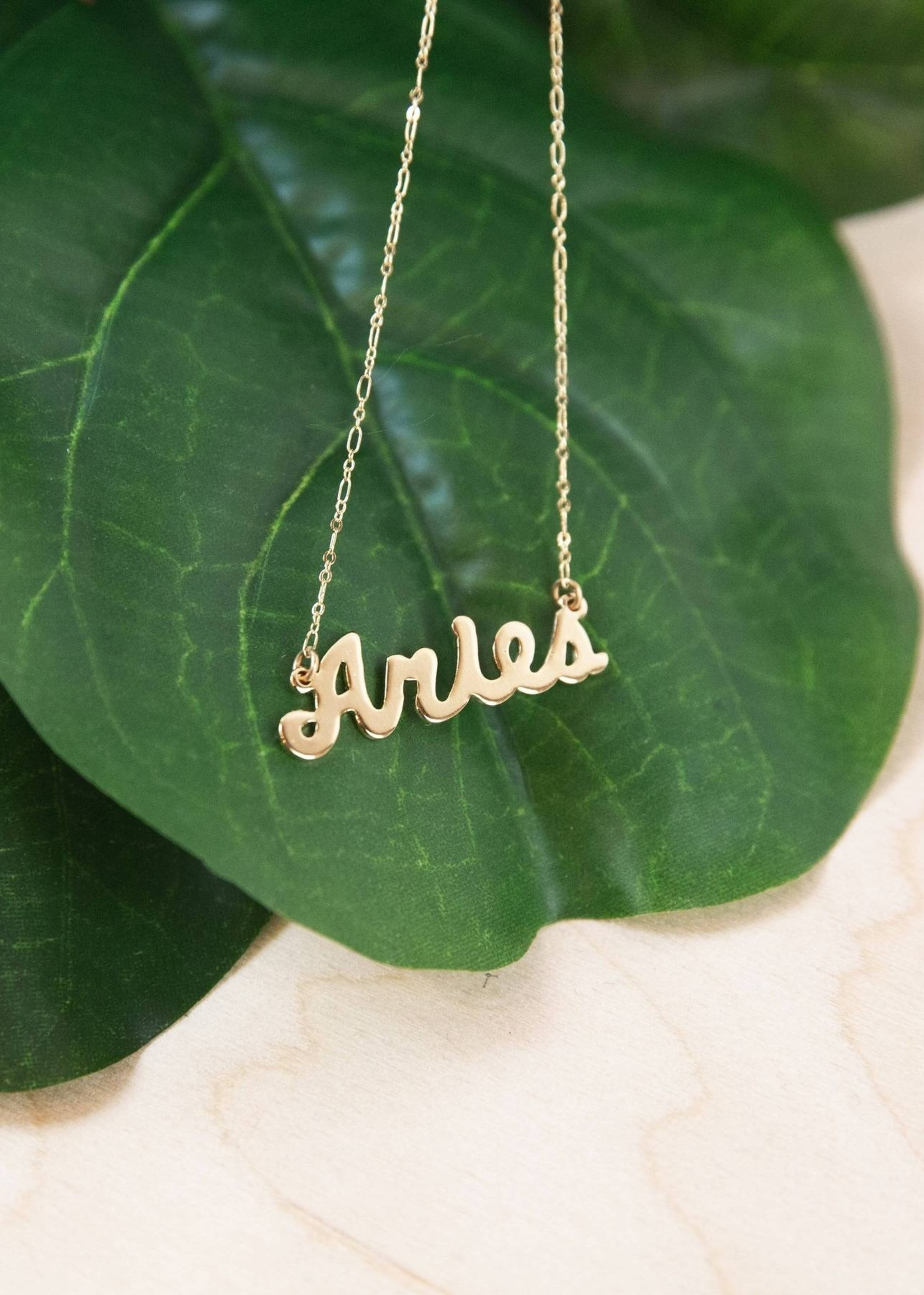 AMANO studio 70's Retro Script Zodiac Necklace