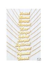 AMANO studio 70's Retro Script Zodiac Necklace