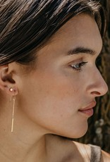 AMANO studio 24k Plated Gold Cube Post Earrings