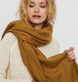 VERA MODA Large Solid Scarf BUCKTHORN BROWN