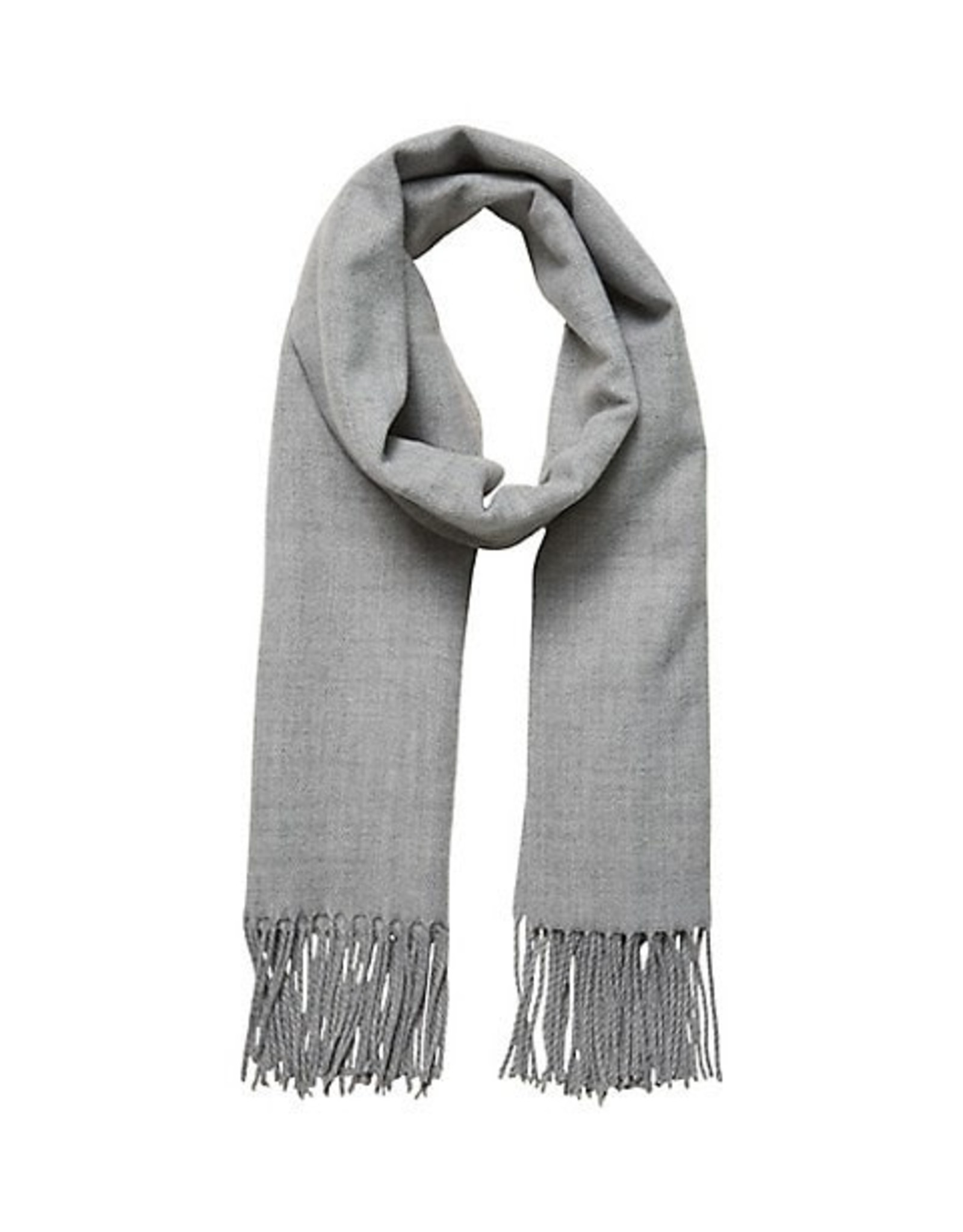 VERA MODA Large Solid Scarf LIGHT GREY MELANGE