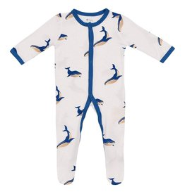 KYTE BABY Printed Buttoned Footie