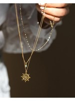 "LEAH ALEXANDRA Sailor Necklace, 18"" Gold Filled Chain"