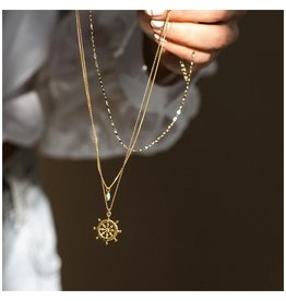 """LEAH ALEXANDRA Sailor Necklace, 18"""" Gold Filled Chain"""