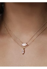 """LEAH ALEXANDRA Fling Necklace, 16"""" Gold Fill Chain"""