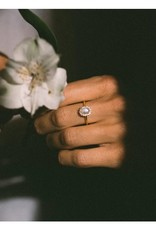 LEAH ALEXANDRA Mini Antiquity Ring, Moon Stone