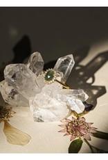 LEAH ALEXANDRA Mini Antiquity Ring, Emerald