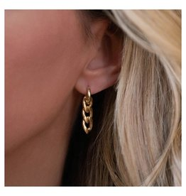 LEAH ALEXANDRA Curn Chain Hoops, 14k Gold Filled