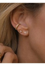 LEAH ALEXANDRA Pave Ear Cuff, Gold Plated