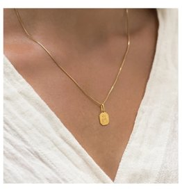 """LEAH ALEXANDRA Love Token Necklace, Square 16"""" Gold Filled"""