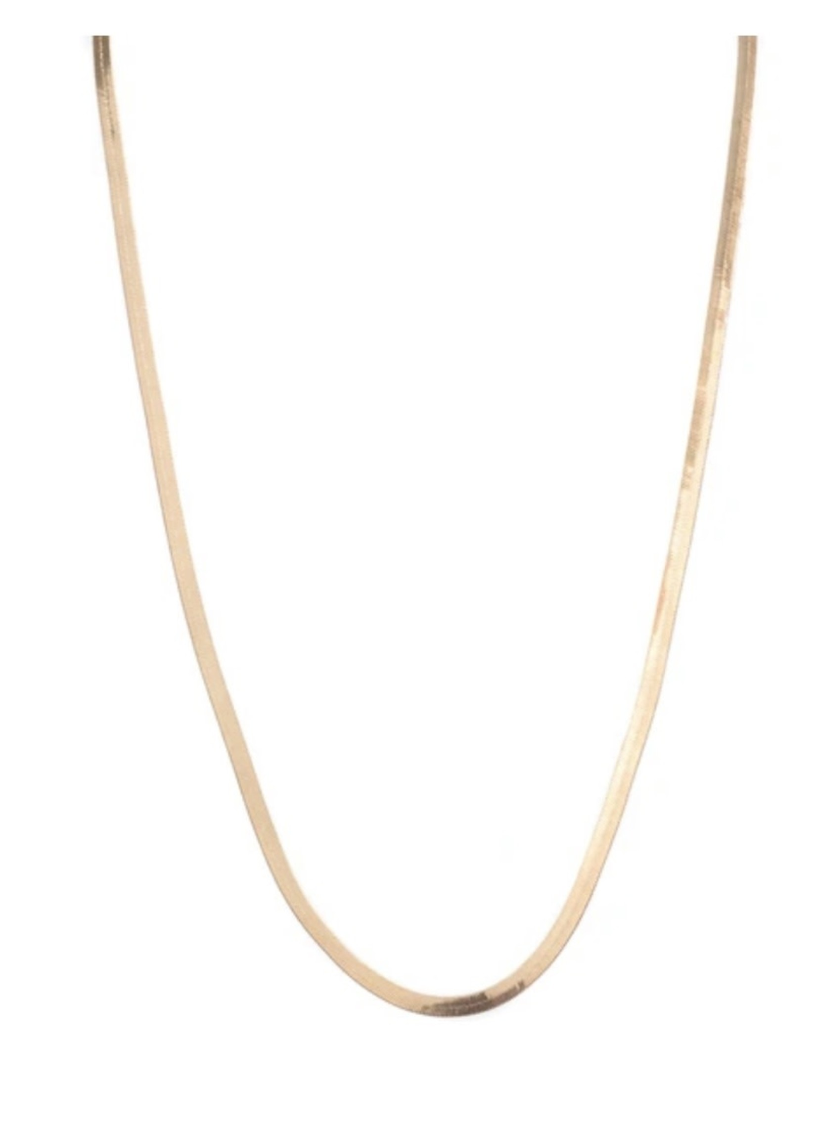 Lisbeth Herringbone Chain, 18K Gold Filled