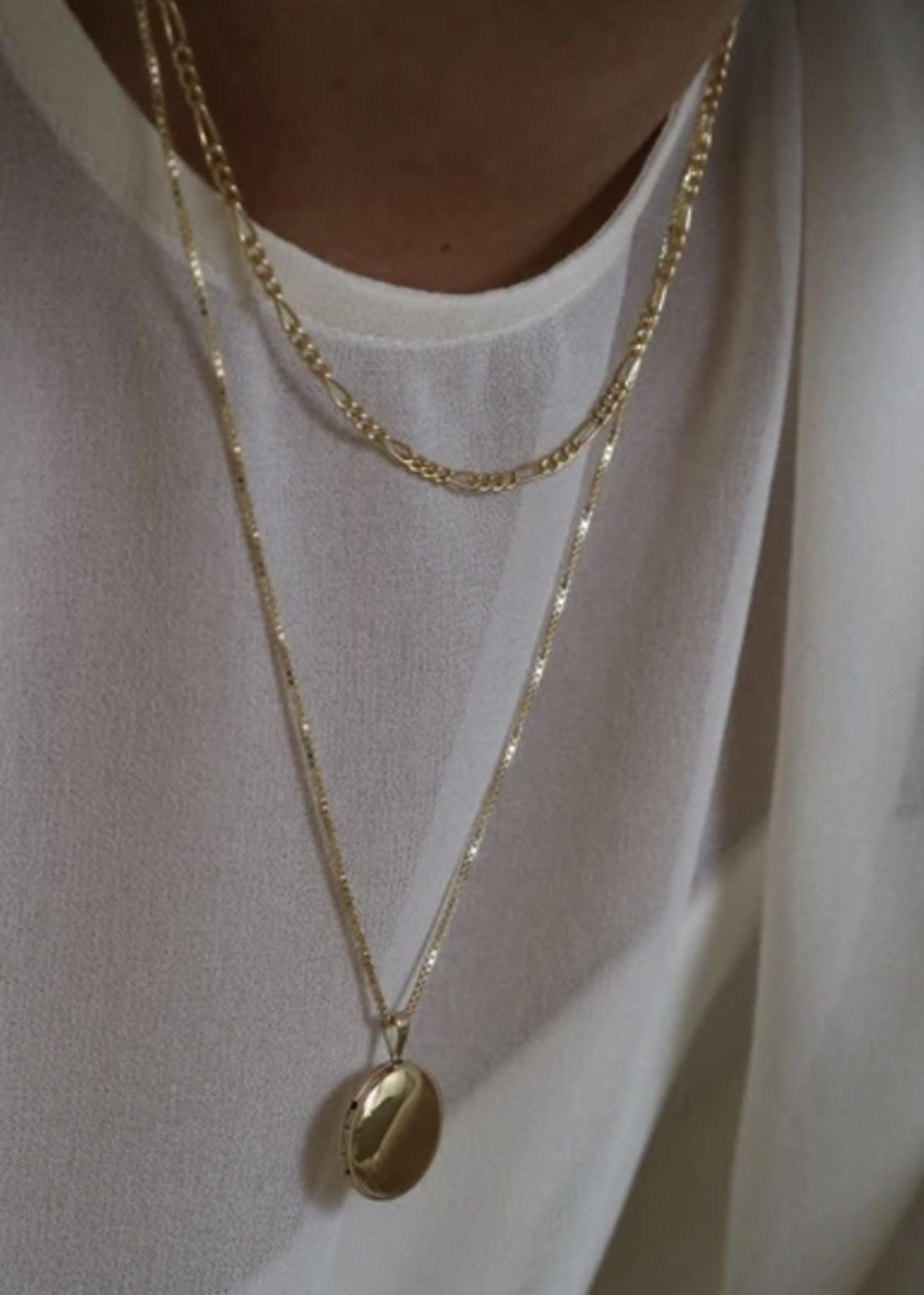 "Lisbeth Augustine Chain, 14K Gold Filled 16"""