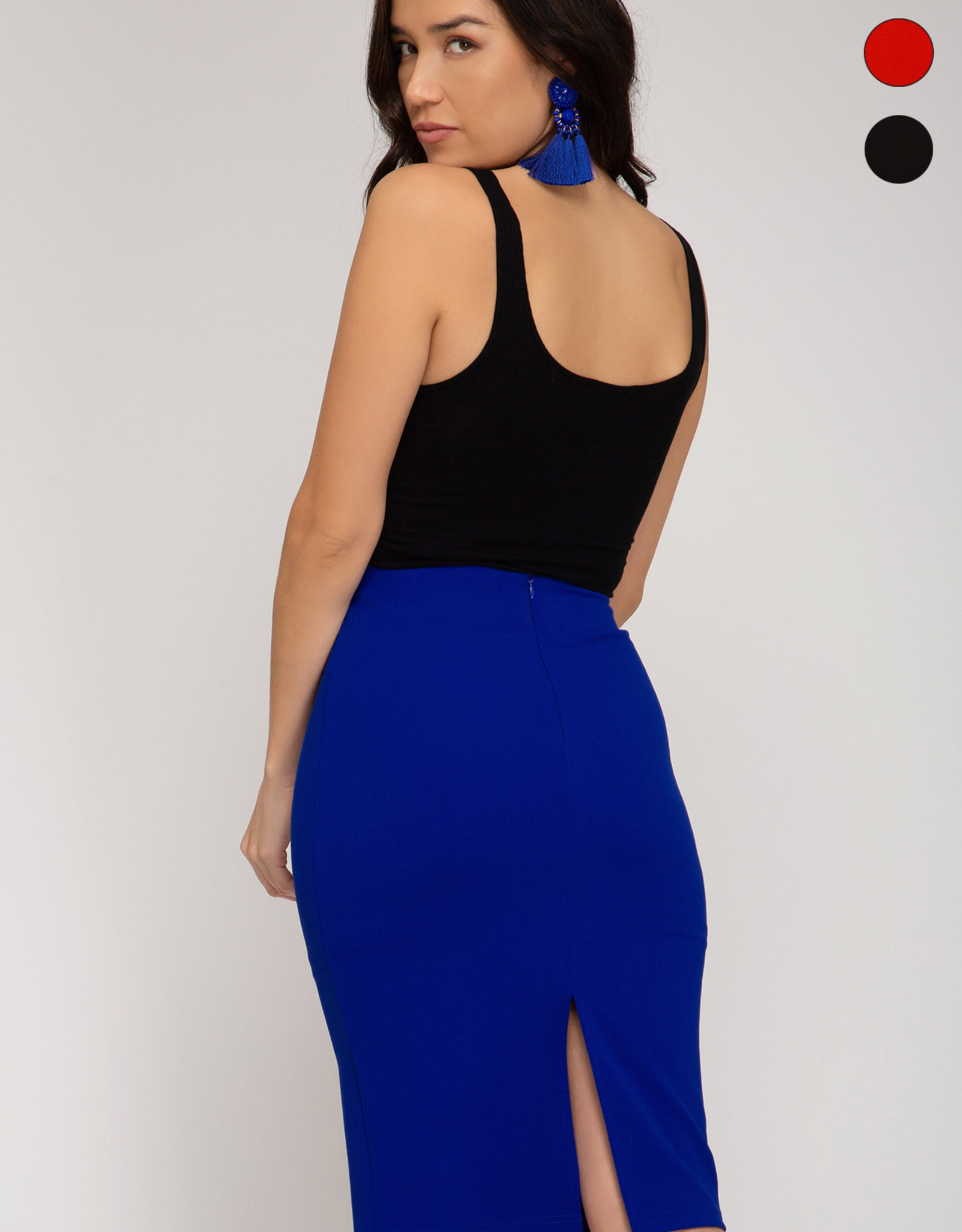 LeBLANC finds FITTED PENCIL Skirt