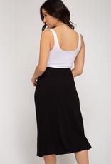 LeBLANC finds BIAS Cut Midi Skirt