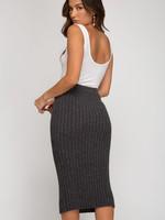 LeBLANC finds RIB KNIT Pencil Skirt