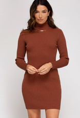 LeBLANC finds RIB KNIT Turtle neck dress