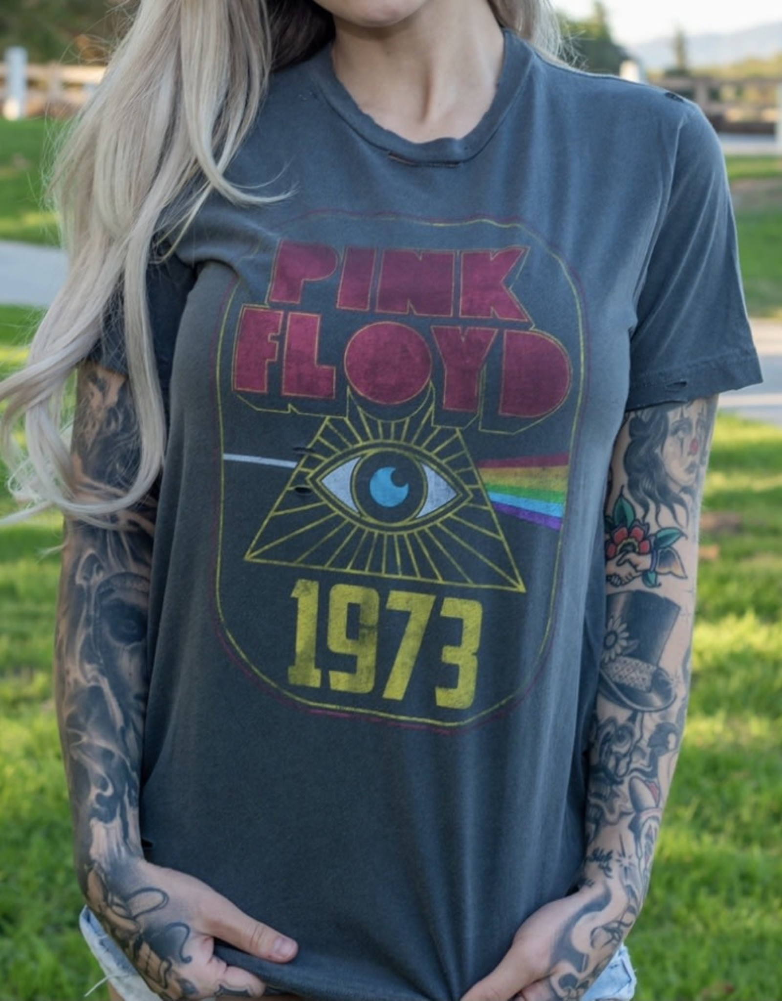 LeBLANC finds Vintage Tee Pink Floyd '73 Destroyed Tee