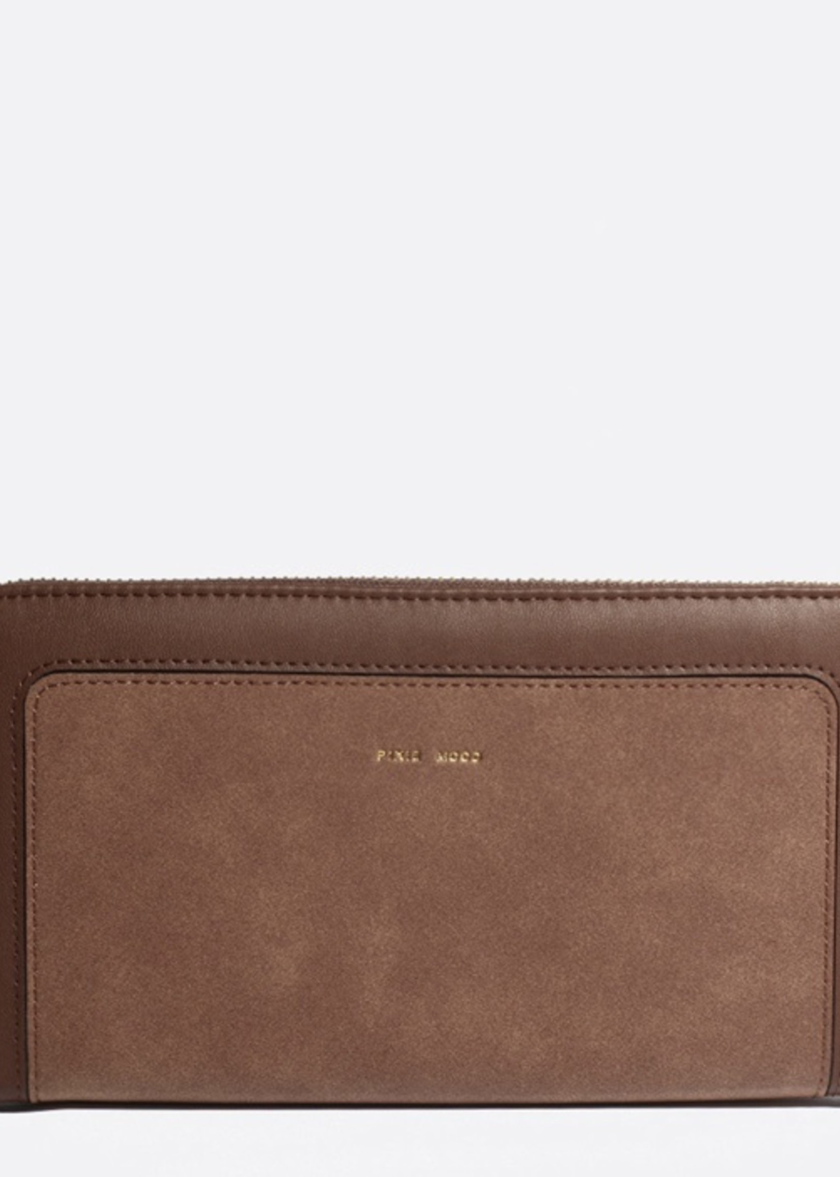 PIXIE MOOD Emma Ziparound Wallet DARK OAK/NUBUCK