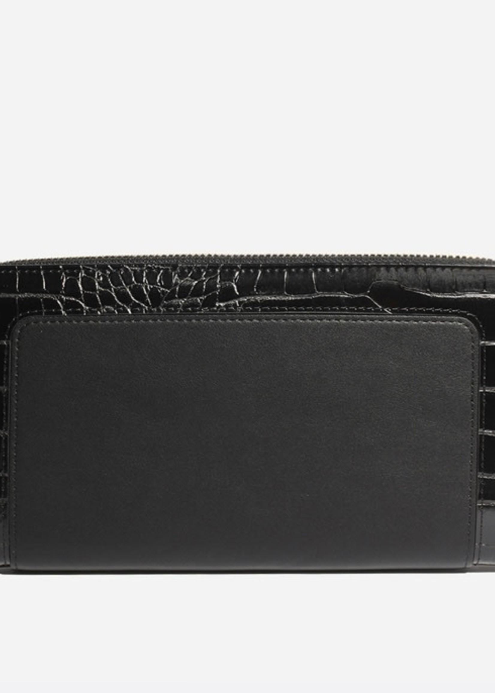 PIXIE MOOD Emma Ziparound Wallet BLACK CROC