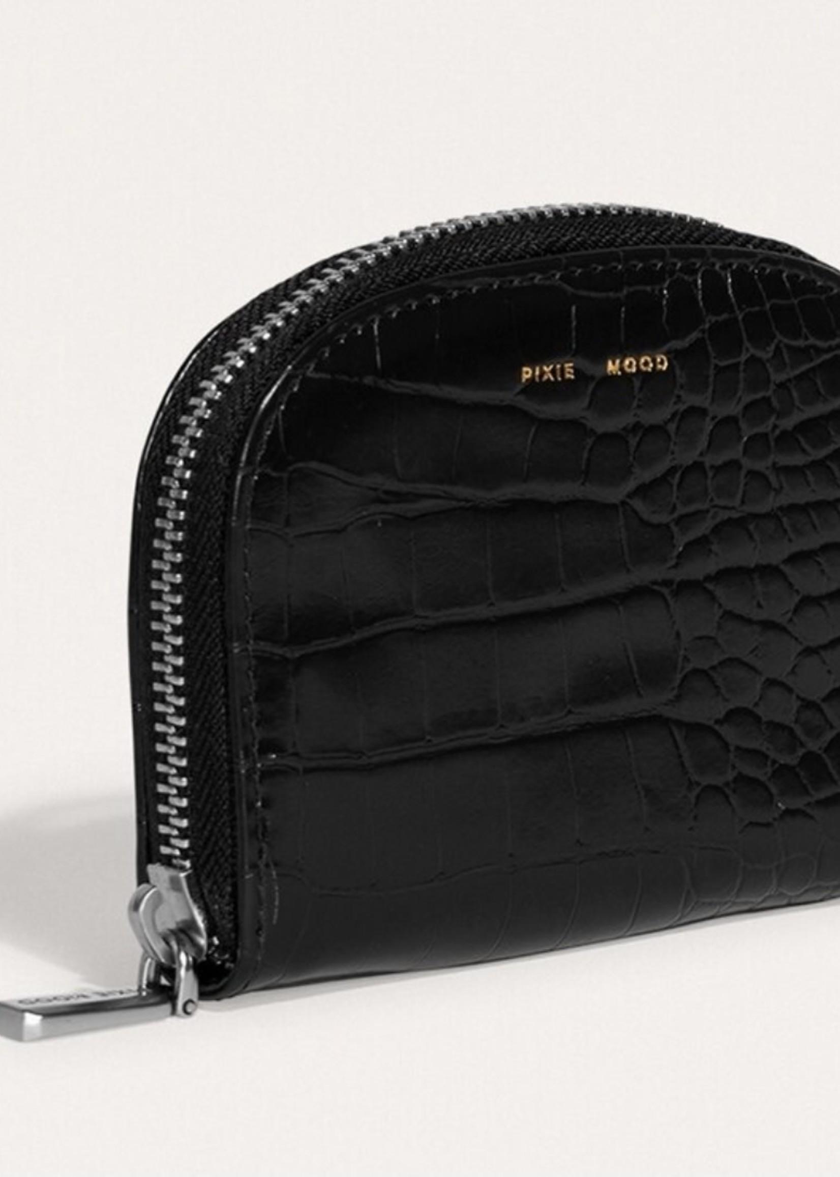 PIXIE MOOD Ida Card Case BLACK CROC